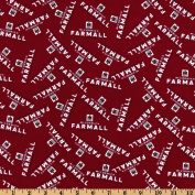 Farmall International Harvester Logo Red Fabric