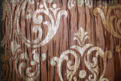 Damask Design, Beverly Carro Collection 555, Colour Brown, 140cm Sold By the Yard. Reversible Fabric.