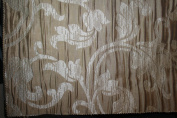 Damask Design, Beverly Carro Collection 444, Colour Sand , 140cm Sold By the Yard. Reversible Fabric.