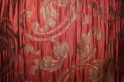 Damask Design, Beverly Carro Collection 444, Colour Rouge , 140cm Sold By the Yard. Reversible Fabric.