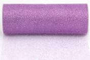 Kel-Toy Glitter Tulle Fabric, 15cm by 10-Yard, Lavender