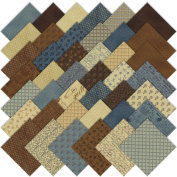 Moda Piecemakers Charm Pack, Set of 42 5-inch (12.7cm) Precut Cotton Fabric Squares