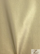 Solid Faux Fake Leather Vinyl Spandex Fabric -Gold -Sold BTY