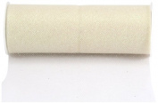 Kel-Toy Glitter Tulle Fabric, 15cm by 10-Yard, Ivory/Iridescent