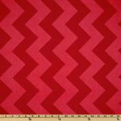 Riley Blake Chevron Large Tonal Red Fabric