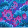 Kaffe Fassett Lake Blossoms Blue Fabric