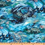 North American Wildlife Swimming Fish Ocean Fabric