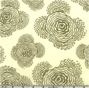 Amy Butler Midwest Modern II Floating Buds Grey Fabric