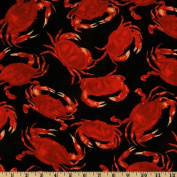 Timeless Treasures Crabs Black Fabric