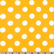 Riley Blake Dots Medium Yellow Fabric