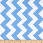 Riley Blake Medium Chevron Blue Fabric