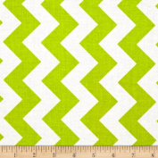 Riley Blake Medium Chevron Lime Fabric