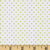 Riley Blake Swiss Dots White/Lime Fabric