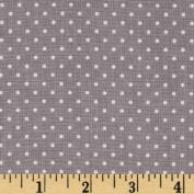 Riley Blake Swiss Dots Grey/White Fabric