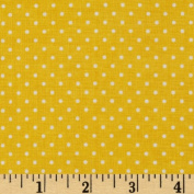 Riley Blake Swiss Dots Yellow/White Fabric
