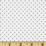 Riley Blake Swiss Dots White/Navy Fabric