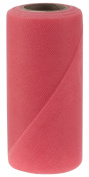 Falk Fabrics Tulle Spool for Decoration, 15cm by 25-Yard, Coral