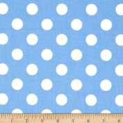 Riley Blake Medium Dots Medium Blue Fabric