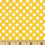 Riley Blake Dots Small Yellow Fabric
