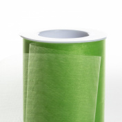 Koyal Wholesale 25-Yard Sheer Organza Fabric Roll, 15cm , Lime Green
