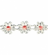 Wrights Flat Lace Daisy Chain, 1cm by 10-Yard, Multicolor