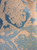 Floral Damask, Lafayette 102 Collection, Colour #7, 140cm Sold By the Yard. Reversible Fabric.