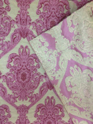 Floral Damask, Lafayette 102 Collection, Colour #6, 140cm Sold By the Yard. Reversible Fabric.
