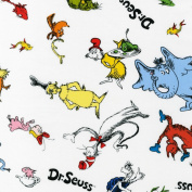 Celebrate Seuss! Tossed Characters White Fabric