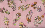 Loralie 'Hey Cupcake' Pretty Ladies on Pink Cotton Fabric By the Yard