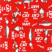 The Cat In The Hat Book Cover Red Fabric
