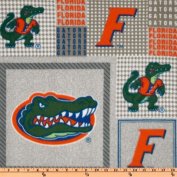 Collegiate Fleece University Of Florida Plaid Blocks Fabric
