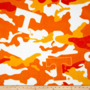 University of Tennessee Fleece Camo Orange Fabric