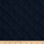 Double Sided Quilted Broadcloth Navy Fabric