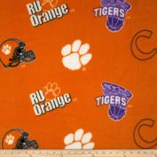 Collegiate Fleece University of Clemson Orange Fabric