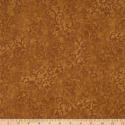 Essentials Flannel Scroll Copper Fabric