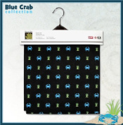 BLUE CRABS Lined Fabric 1yd by 140cm Wide Blue Crab 100% Cotton Material Lined on Underside For Sewing Projects like Tablecloths, Tablecovers, Aprons - Top Rated Quality 22% more FABRIC than 110cm width