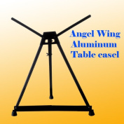DSM TM Aluminium Table Easel with Wing Foldable Canvas Poster Picture Frame Holder Angel Wing Style