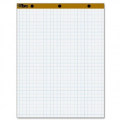 Tops Business Forms Easel Pad, 15Lb, 2.5cm Grid, 50 Sheets, 70cm x 90cm , 2Pd/Ct, White