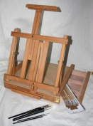 Table Top Easel with Paint Brush Set