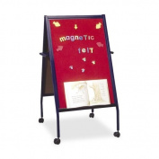 Balt Magnetic Red Flannel Surface Easel Double-Sided - Red Flannel Surface - Steel Frame - Film - 1 Each