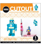 Hip In a Hurry 3D Decor Cut Outs 11cm Minis-Blue Robot