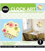 Hip In A Hurry 3D Decor Clock Art 28cm - Hearts