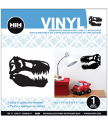 Hip In A Hurry Vinyl 11cm Minis-Black Dinosaur Head