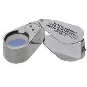Generic 40X 25mm All Metal Magnifier Jeweller LED UV Lens Jewelery Loupe Magnifier