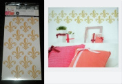 Hip in a Hurry Peel-n-Stick Gold Paris Fleurs Wall Graphics