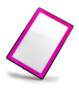 Porta-Trace LED Light Panel, Pink Frame, 41cm by 46cm