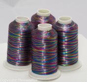 NEW Threadsrus 4 MULTI-colour METALLIC MACHINE EMBROIDERY THREAD CONES