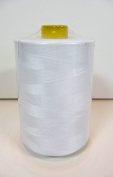 A-Brand White Thread,quality,spun Polyester,big Spool,12,000 Yards