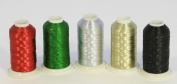 NEW ThreadNanny 5 CONES METALLIC MACHINE EMBROIDERY THREAD