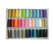 33 Assorted Spools of Polyester Sewing Thread 400 Yards Each